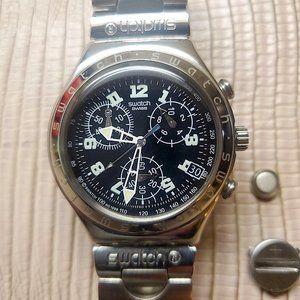 Swatch Accessories - Rare Vintage Unused Swatch Irony Chrono S.S. Quart